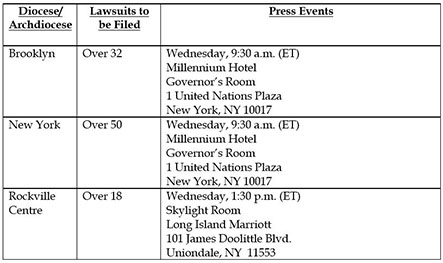Press Conference Schedule